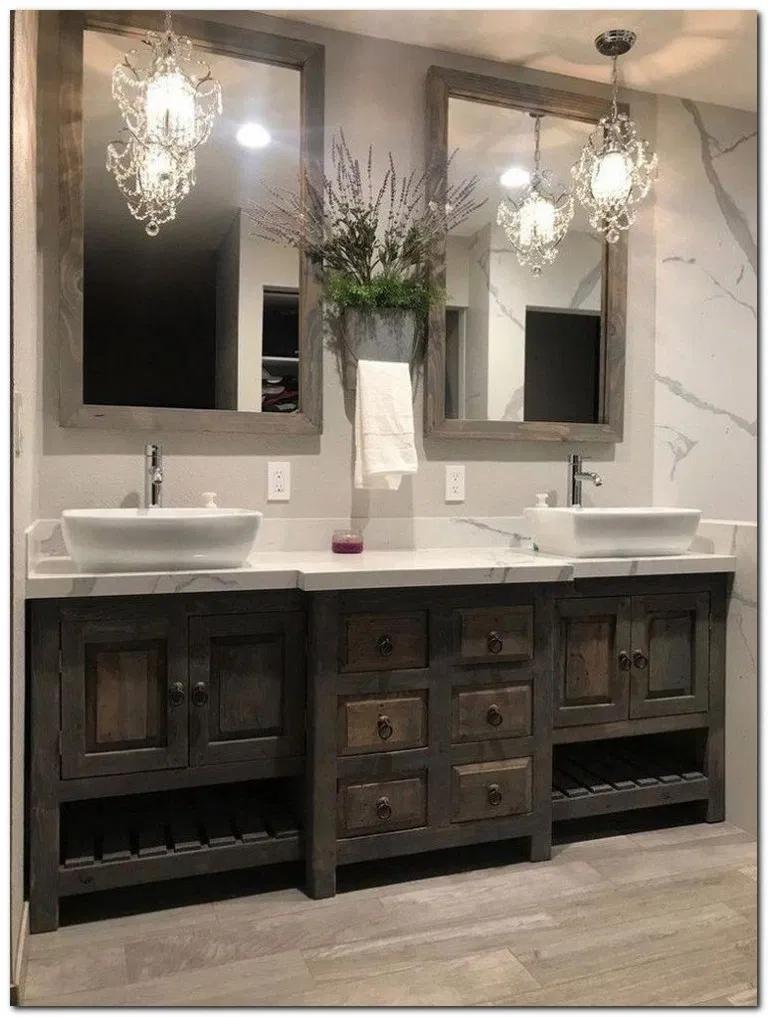 54 White Bathroom Bathroomideas Bathroomdesignmodern Modernbathroom Home Design Bathroom Vanity Reclaimed Bathroom Double Vanity Bathroom