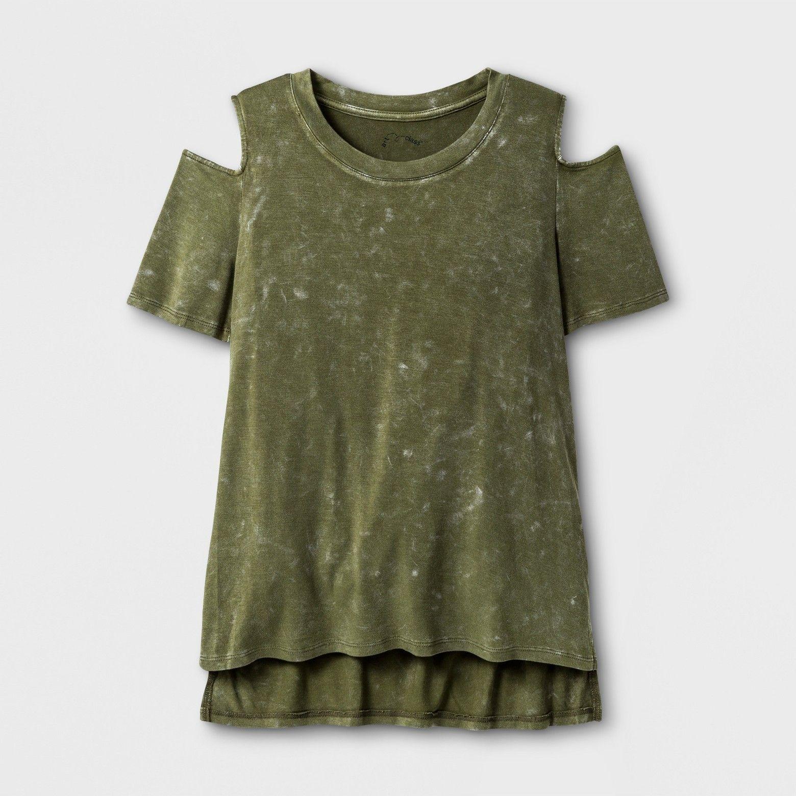 Girlsu cold shoulder knit tshirt art class winter moss s ella
