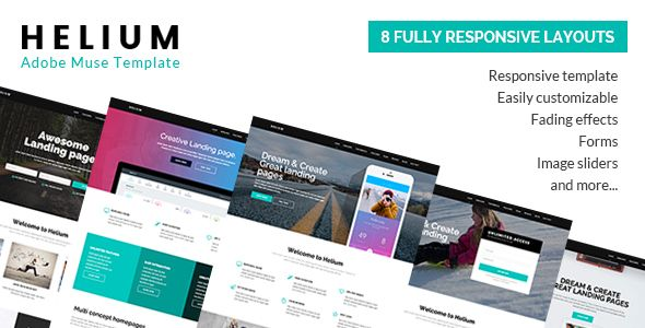 helium 8 in 1 marketing muse template template and website