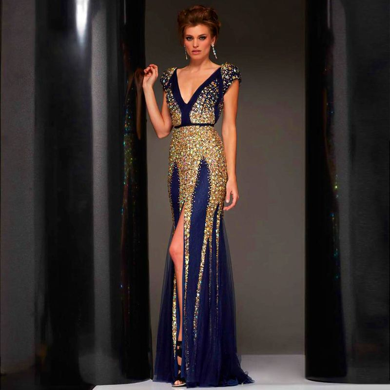 Find More Evening Dresses Information about Beaded Long Abendkleider ...