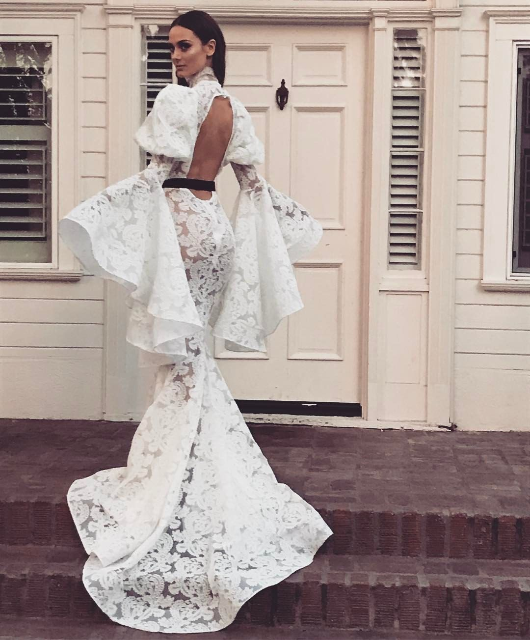 Michael Costello Wedding Gowns With Sleeves Fashion Dresses Love Couture
