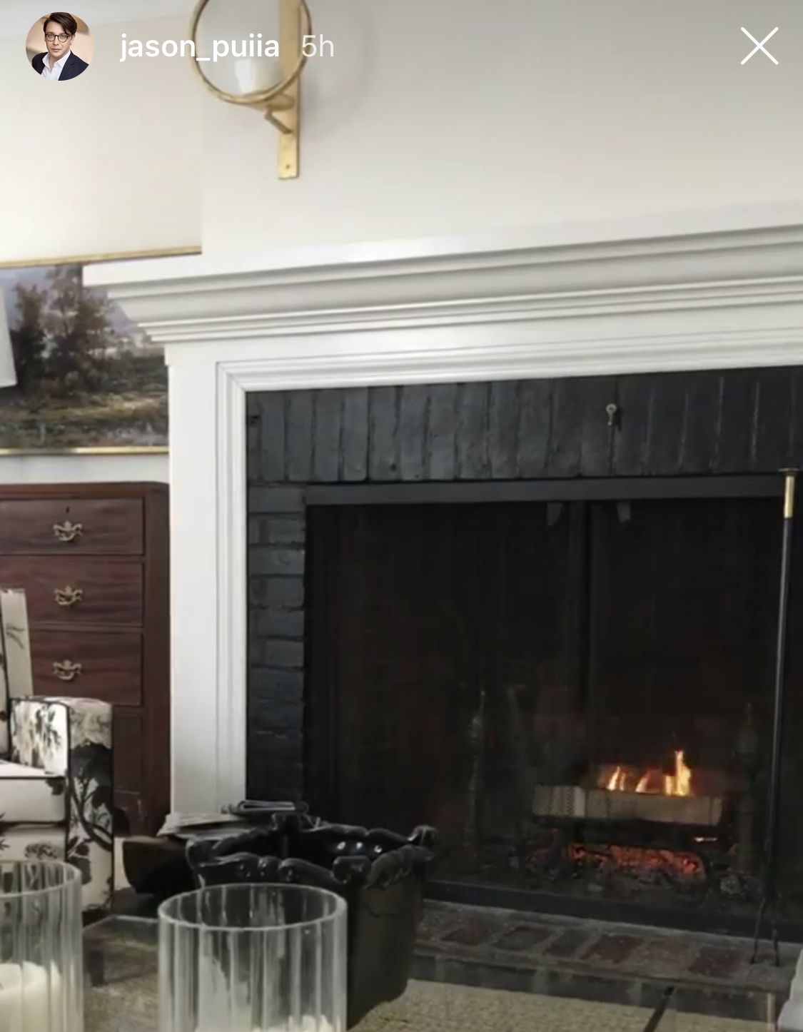Fireplace Surround Paint The Brick Black Fireplace Fireplace Surrounds Brick Fireplace