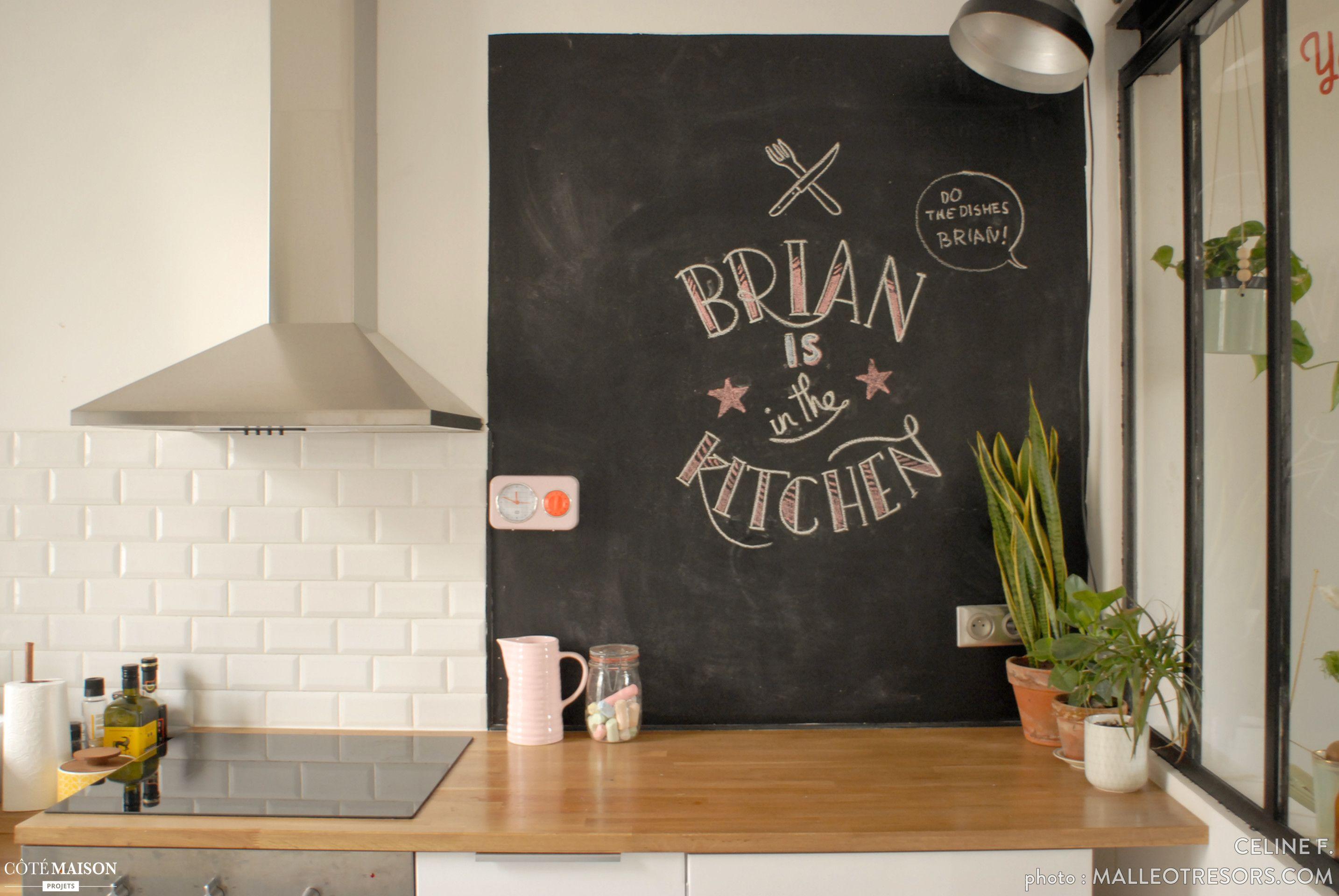 Pin by Nina Sand on Tableau noir  White ikea kitchen, Home decor