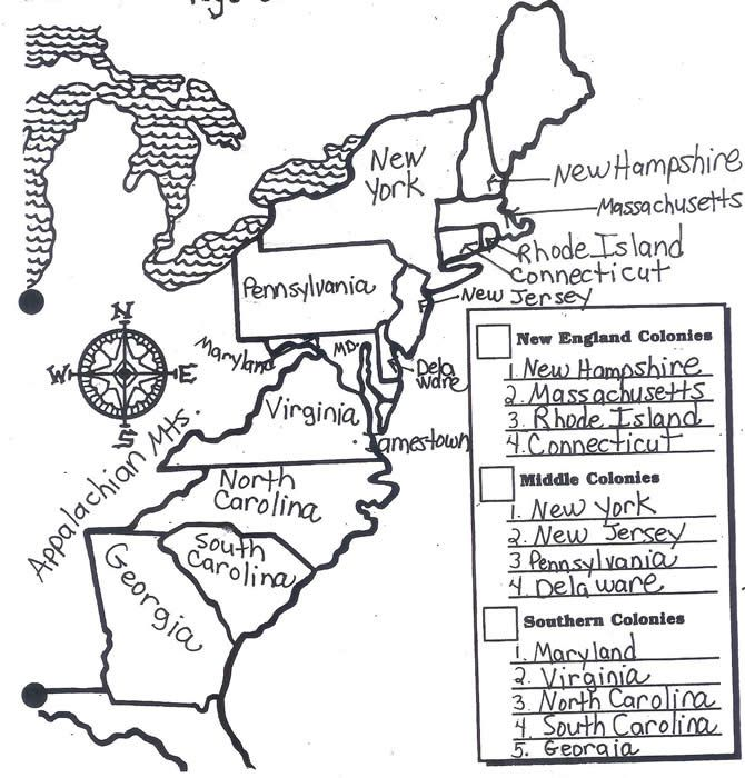 13 Colonies Coloring Page | Coloring pages, 13 colonies ...Black And White Delaware Colony Map