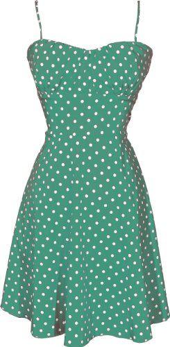 6c11953ebe8 50 s Retro Rockabilly Polkadot Dress Sundress Amazon Clothing ...