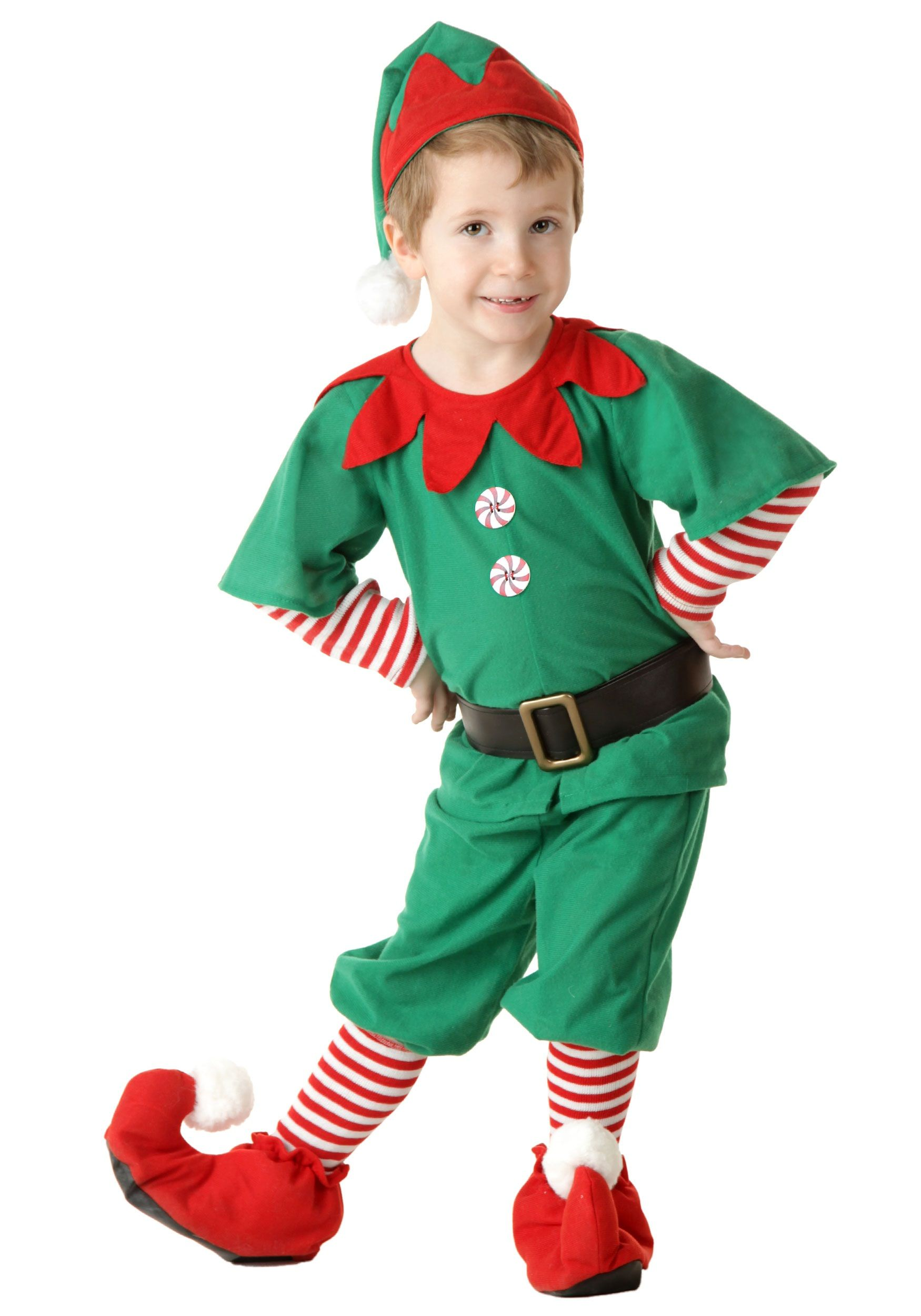 ba8d82e3d5f43 Toddler Happy Christmas Elf Costume