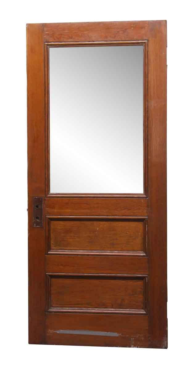 Frosted Glass Panel Wood Antique Door 82 5 X 35 5 Entry Doors With Glass Exterior Doors With Glass Glass Panel Door