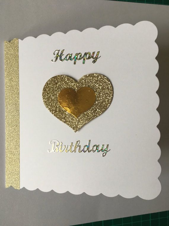 Handmade Happy Birthday Card With Gold By Creationsbylindsay17 Happy Birthday Cards Happy Birthday Theme Birthday Cards