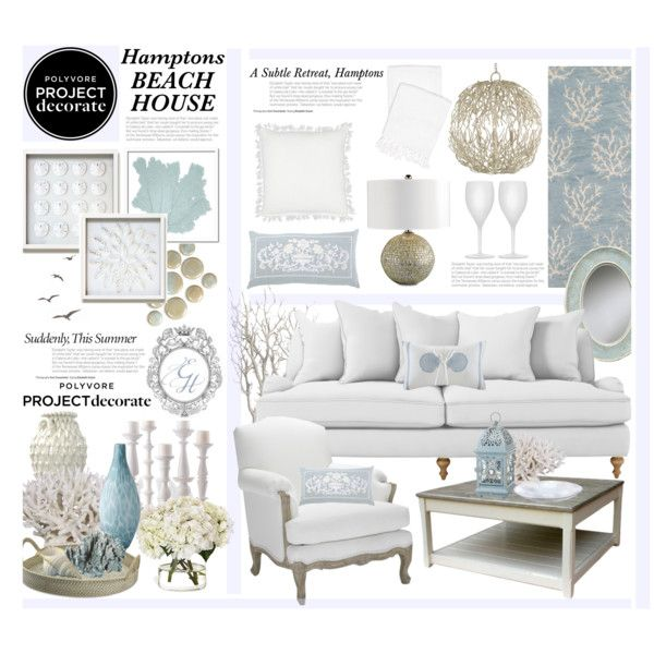 The hamptons subtle beach retreat beach polyvore and for Hamptons beach house interiors