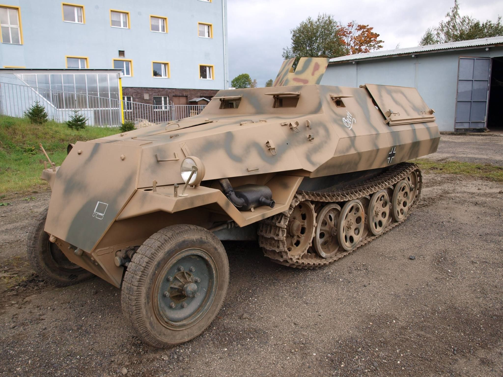The museum of military vehicles smrzovka offers 1 sdkfz 251 d replica fully restored running condition with tatra engine and 4 vehicles