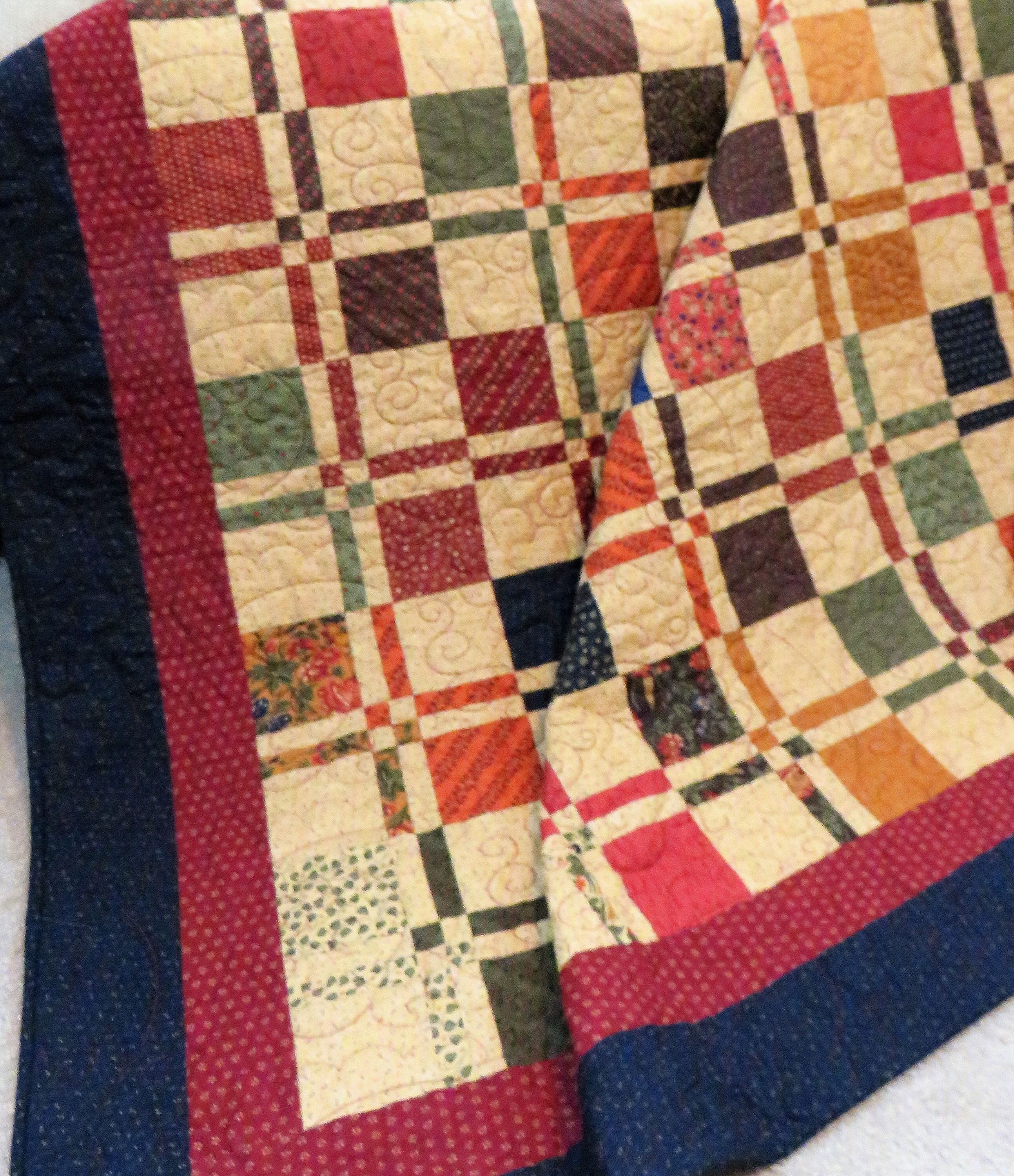 Handmade Quilt For Sale Twin Size Quilt Full Size Coverlet Etsy Handmade Quilts For Sale Throw Quilt Handmade Quilts