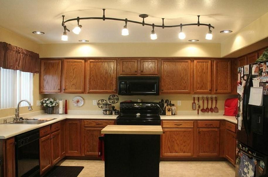 Kitchen Track Lighting For Modern Kitchen Decorating Ideas Kitchen - Kitchen ceiling track light fixtures