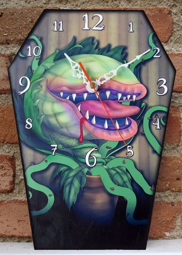 Wooden Wall Coffin Clock Chucky Child S Play Horror Movie Handmade Wall Clock Coffin Shaped Gothic De Little Shop Of Horrors Handmade Wall Clocks Horror