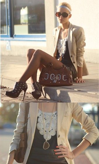 Gabor Padlock Bag, Zara Jacket, Asos Necklace