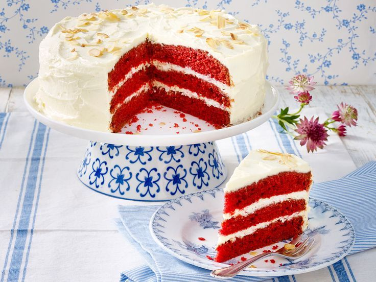 Red Velvet Cake backen - so geht's // lecker.de #redvelvetcake