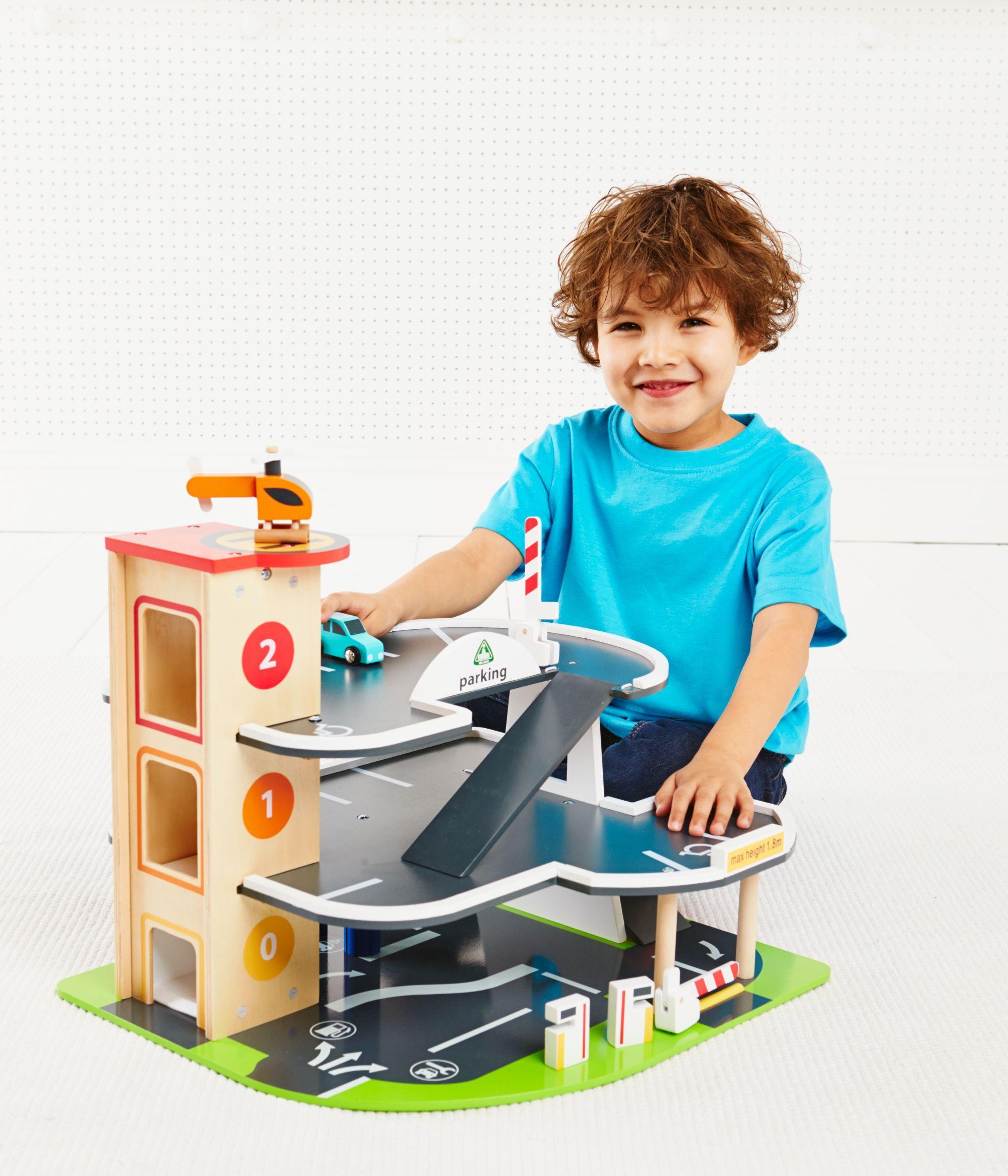 Big City Wooden Garage Maket Toy Garage Garage Toys
