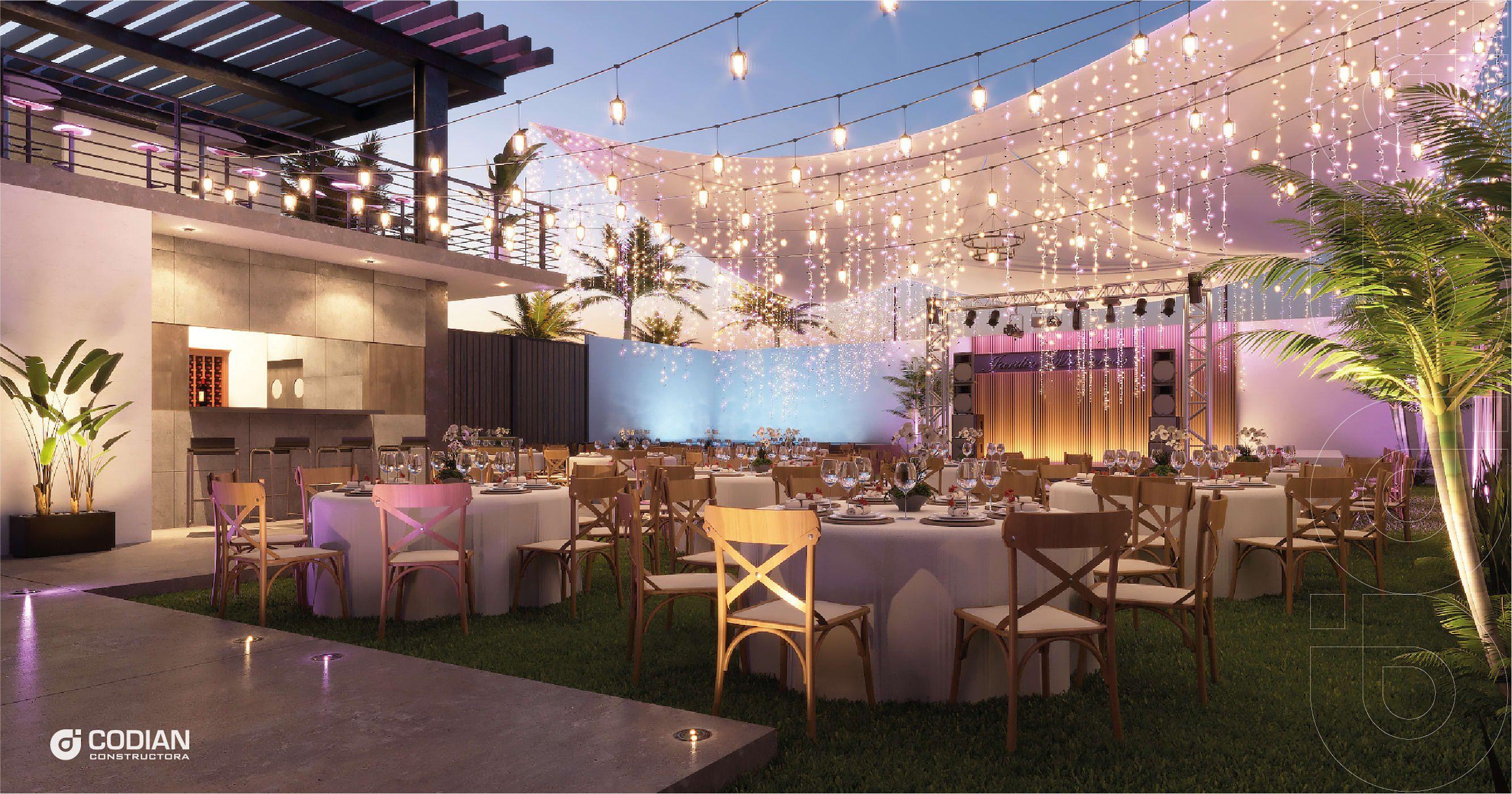 Salón Jardín Locaciones Para Eventos De Estilo Moderno De