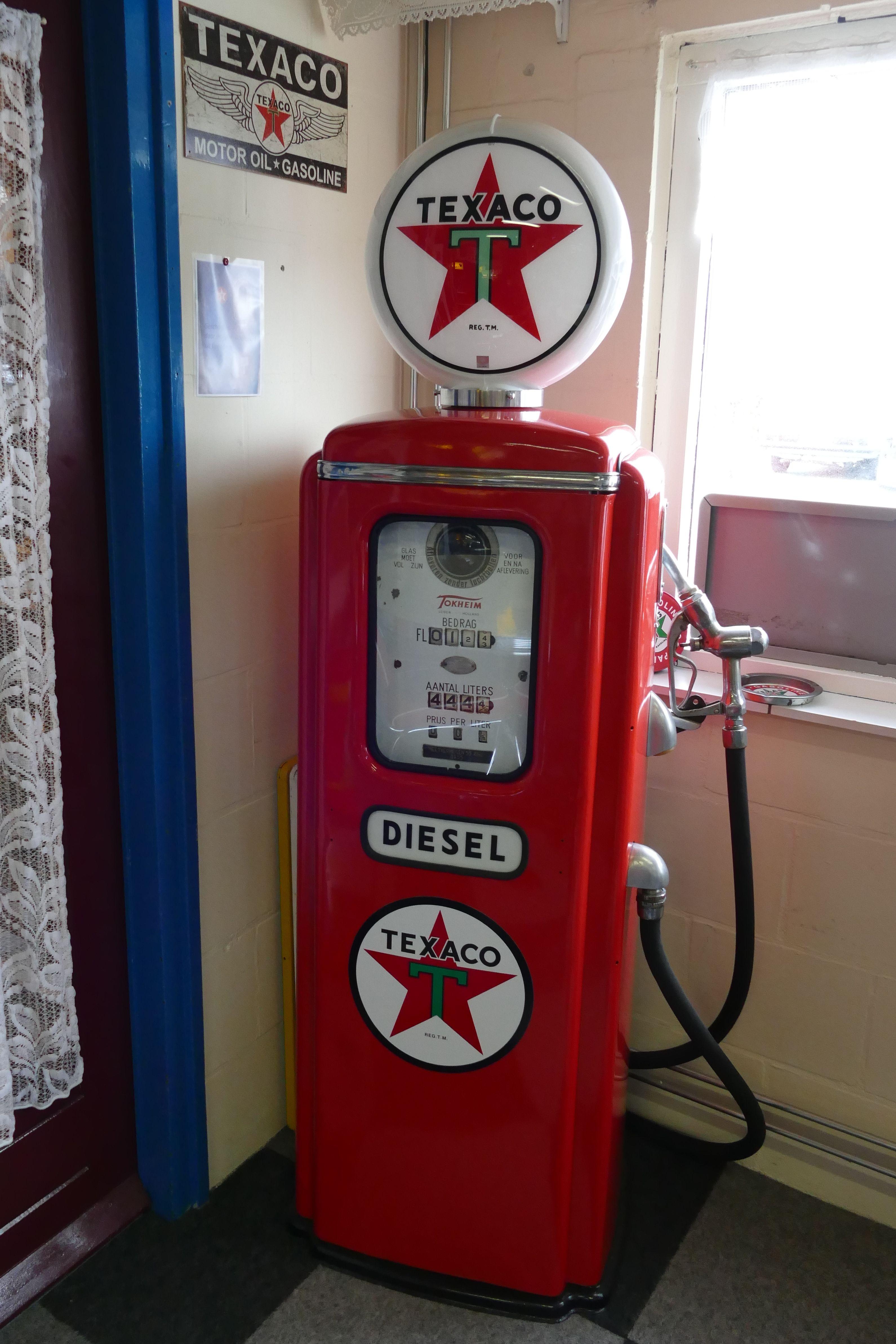 Modelo Em Escala 1:25 G Texaco Posto De Gasolina sinais de gás