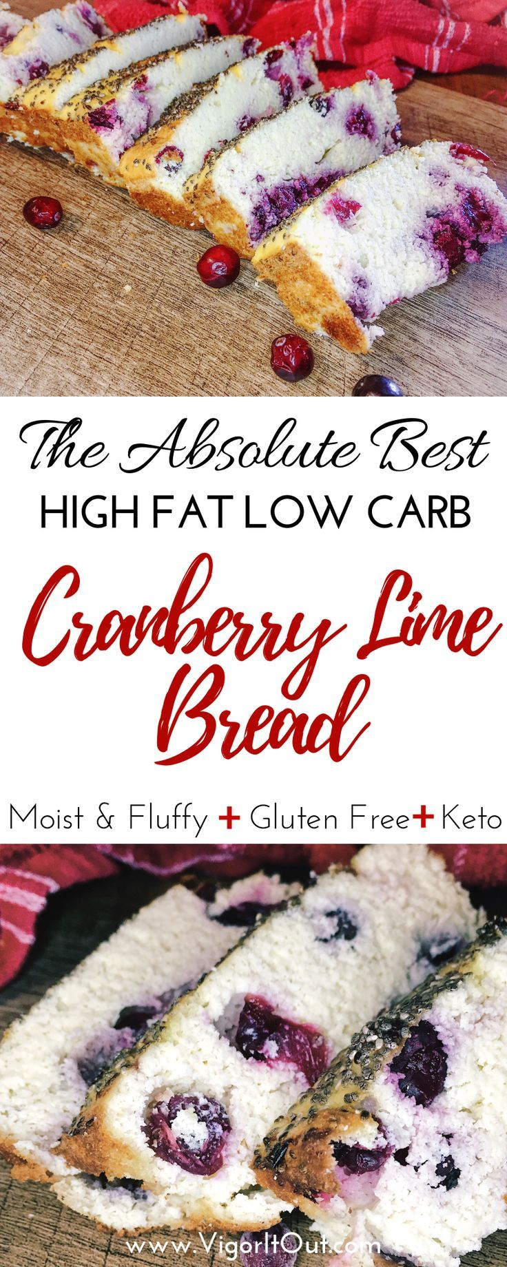 Low Carb Keto Cranberry Bread images