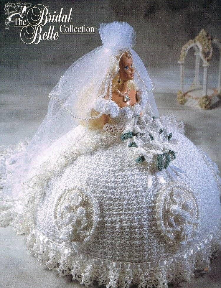 Bridal Belle Calendar Bed Doll Crochet Pattern Book Annies Barbie ...
