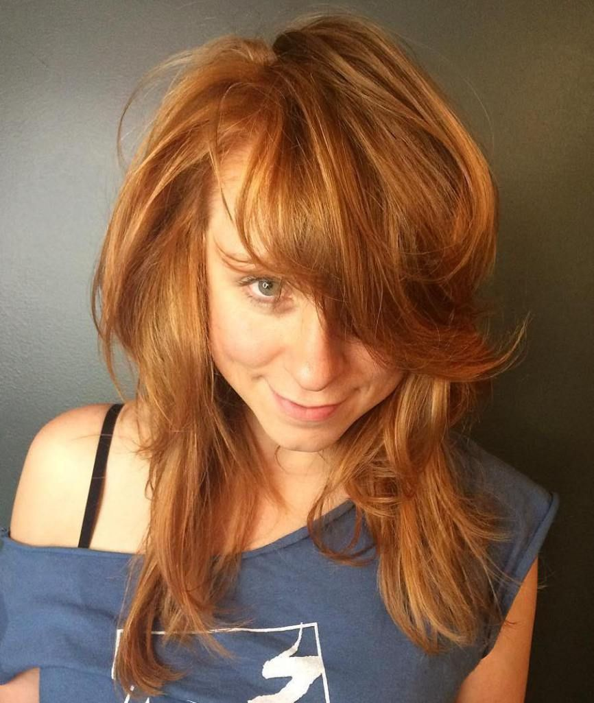 50 Lovely Long Shag Haircuts For Effortless Stylish Looks Red