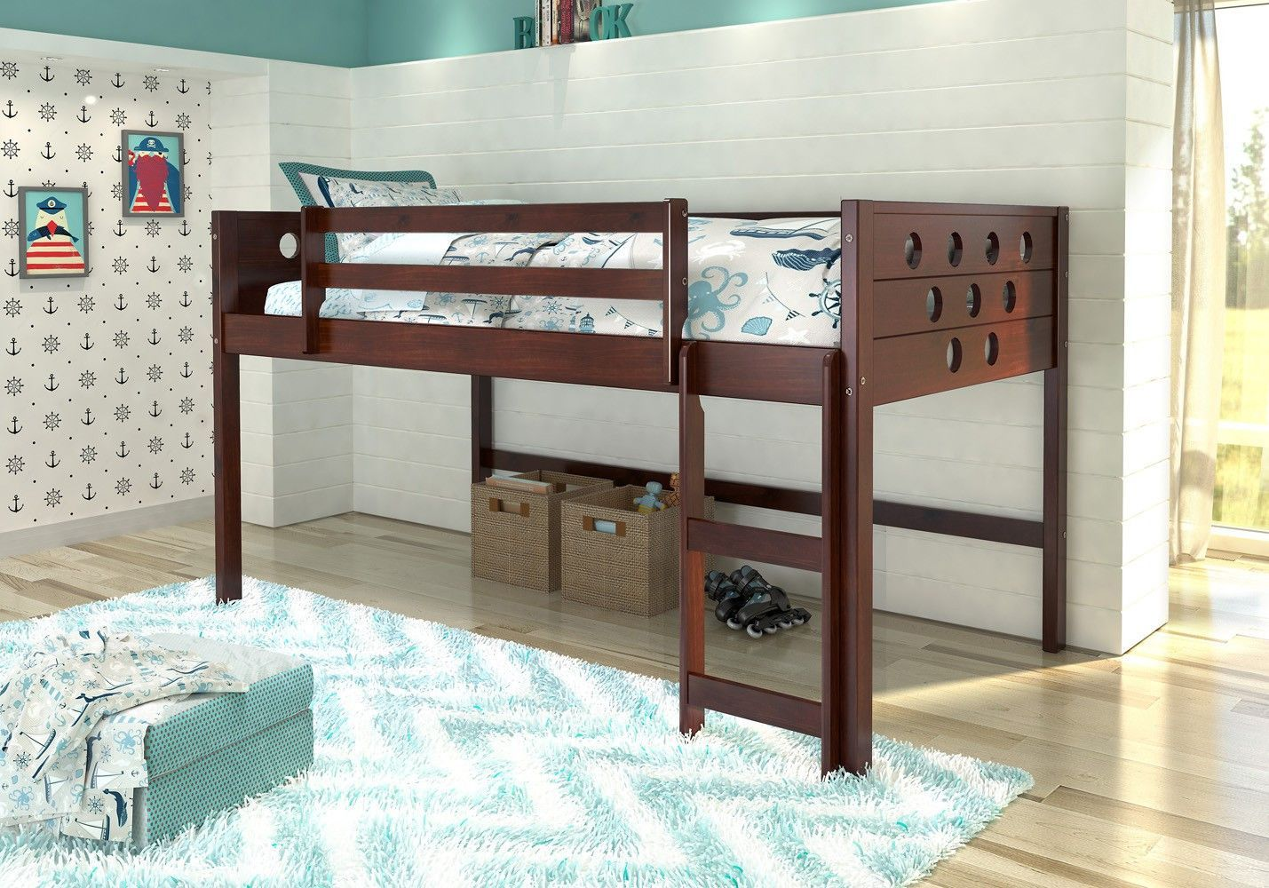 Low loft bed with desk and dresser  Sadie White Bunk Bed  Free Worldwide Advertising  Pinterest  Loft