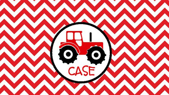 Sippy Cup Inserts  Tractor Red by BinThereDesigns on Etsy