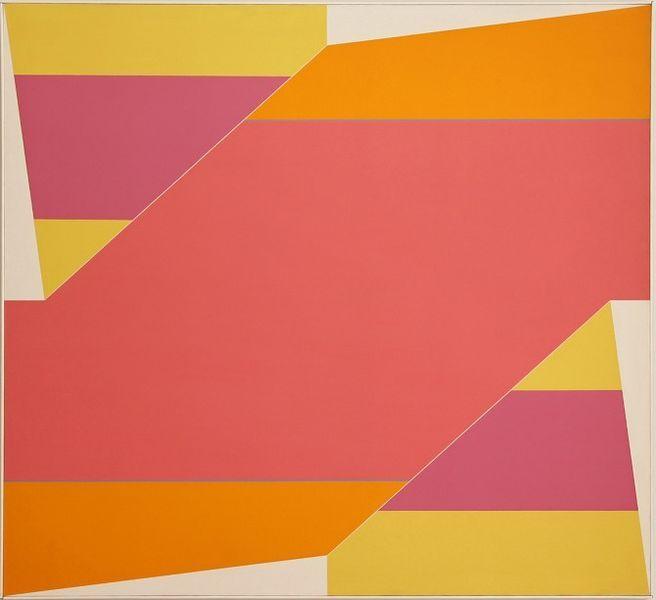 #art #abstract #geometry #conceptual #LarryZox #WyethAlexander #yellow #pink #orange