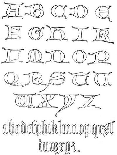 graffiti 3d alphabet a-z Graffiti Letters A-Z Gothic Uncial