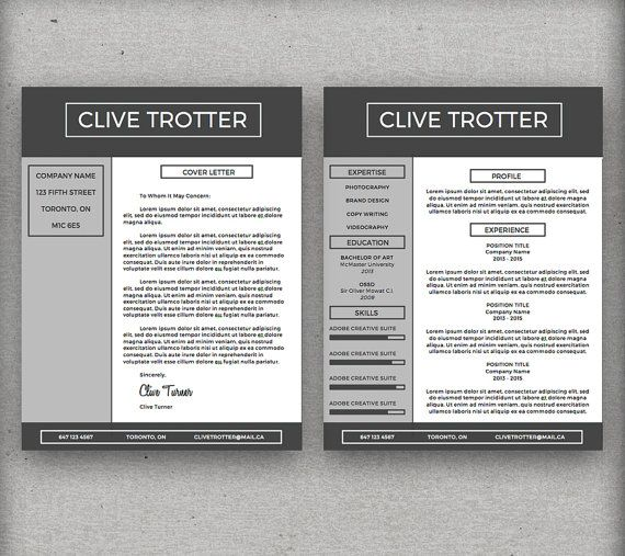 Clive Trotter Resume Package Instant Download By Cvcustompress