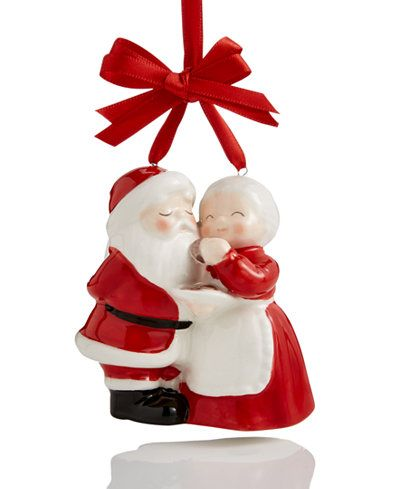 Holiday Lane Ceramic Mr Mrs Claus Ornament Created For Macy S Xmas Ornaments Ornaments Christmas Ornaments