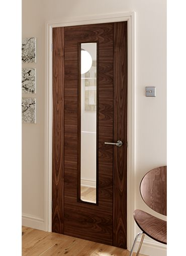 Catalonia walnut fire door walnut glazed internal door and bespoke walnut doors.  sc 1 st  Pinterest & 4 panel V Groove Walnut Pre-glazed Internal Door - nice for safety ...