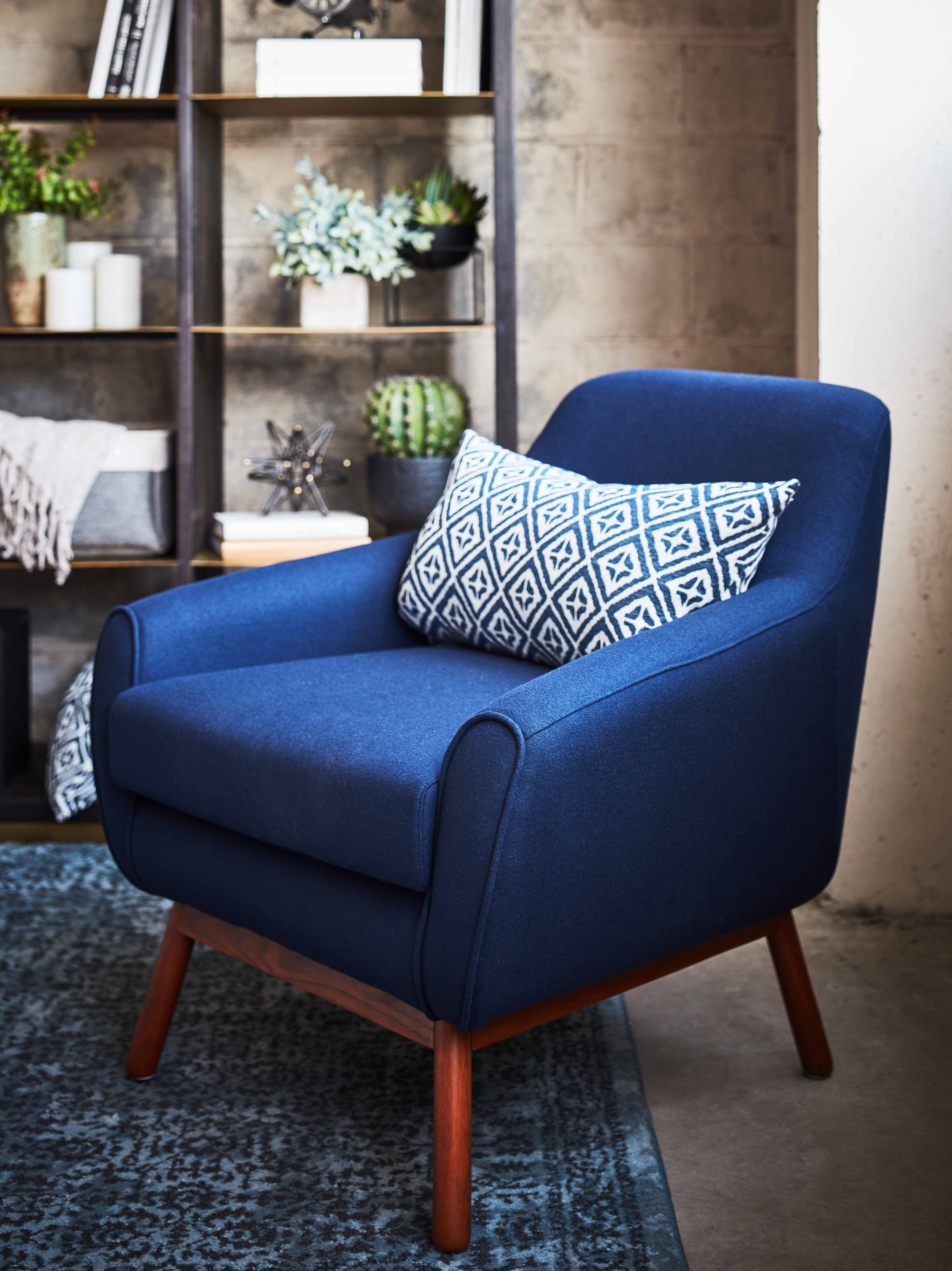 Cozy Navy Accent Chair  Accent chairs, Navy accent chair, Accent