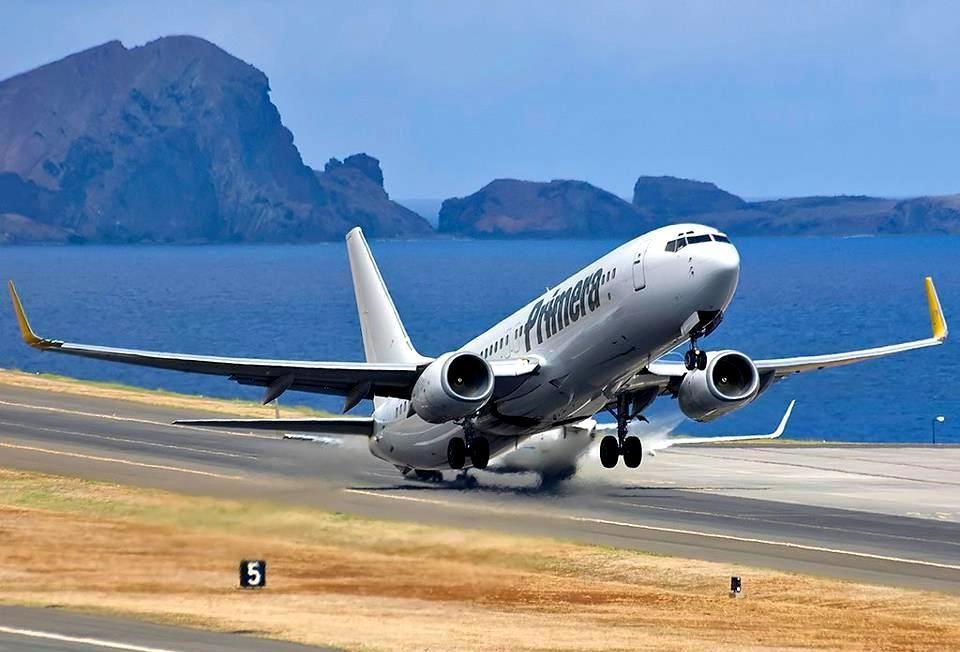 The Danish Leisure Airline Primera Air at at Funchal Santa Cruz Madeira