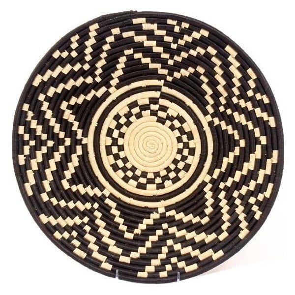 "Uganda Baskets - Bukedo & Raffia Bowl16"" AcrossUR5616 (280 CNY) found on Polyvore"
