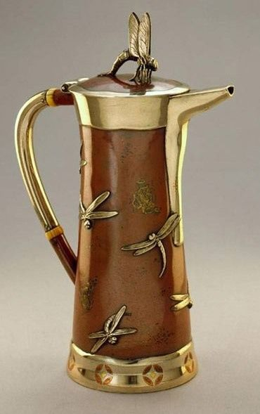 Tiffany cylindrical coffee pot c 1870s. #coffeepots