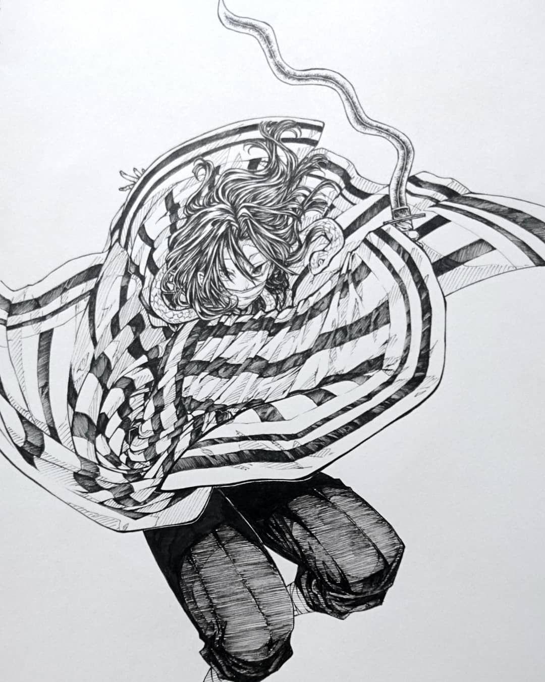 白黒 鬼 刃 イラスト の 滅