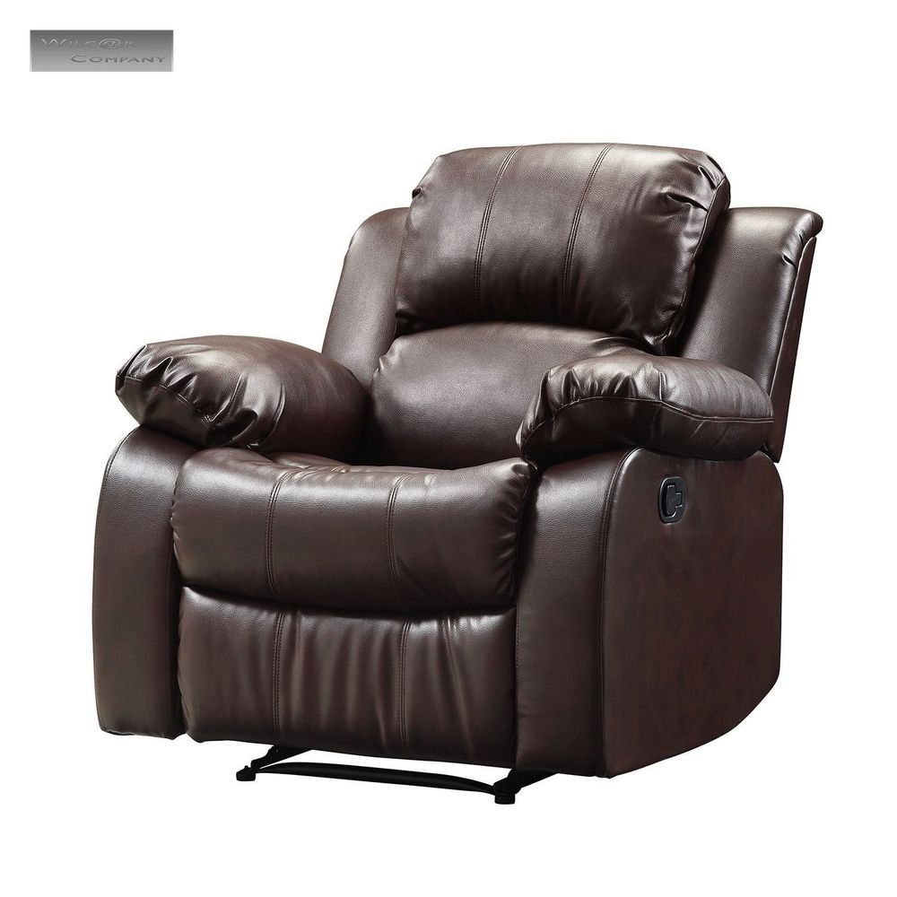 New Brown Leather Recliner Lazy Boy Reclining Chair Furniture