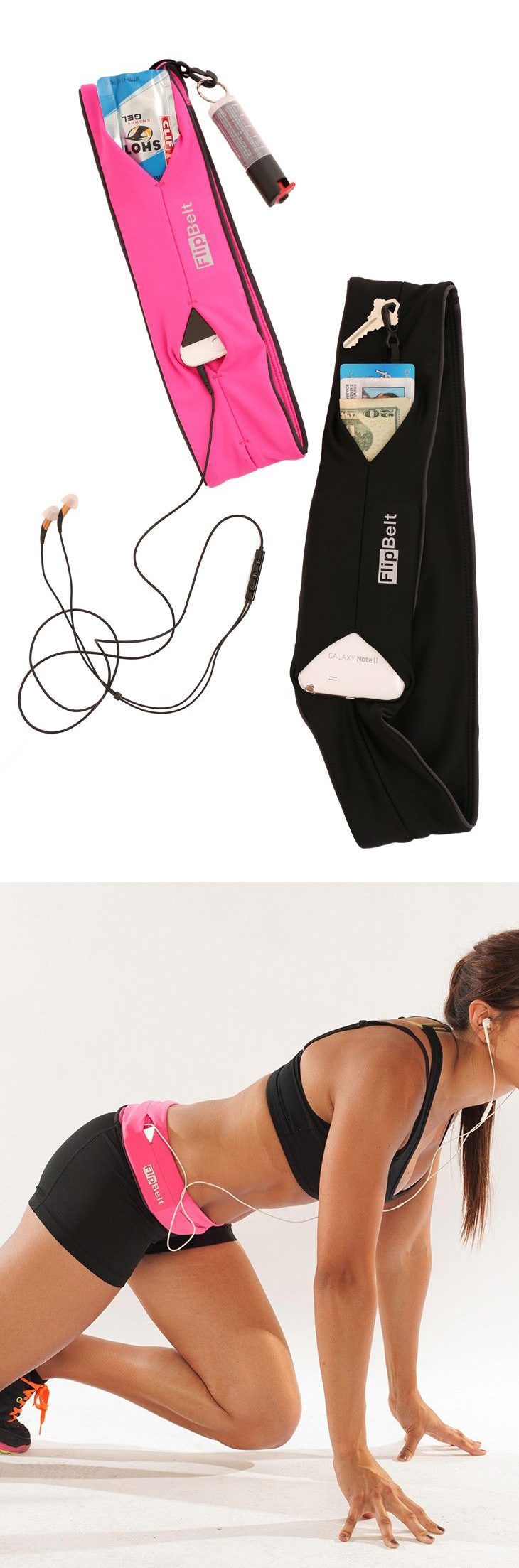 Belt that holds your phone, cards, and keys while you workout, go running, or do yoga!