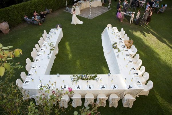 Find The Perfect Setting For Your Wedding: U Shaped Table Setting For Wedding. Everyone Can See The