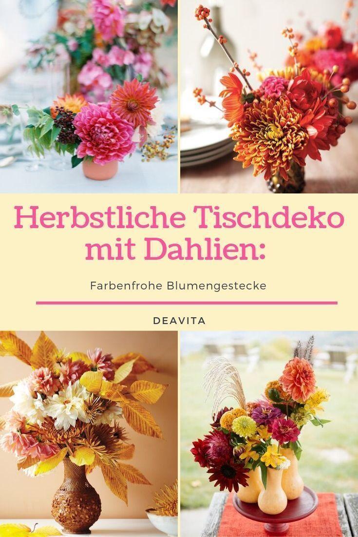Mit ihrer kräftigen Farbe und besonderen Blütenform ist die #Dahlie eindeutig der Star in jedem Blumenstrauß.Wir zeigen Ihnen 20 Beispiele für farbenfrohe #herbstliche #Tischdeko mit Dahlien und erklären, wie Sie sie #selber #machen können. #herbstlichetischdeko Mit ihrer kräftigen Farbe und besonderen Blütenform ist die #Dahlie eindeutig der Star in jedem Blumenstrauß.Wir zeigen Ihnen 20 Beispiele für farbenfrohe #herbstliche #Tischdeko mit Dahlien und erklären, wie Sie sie #selber # #herbstlichetischdeko
