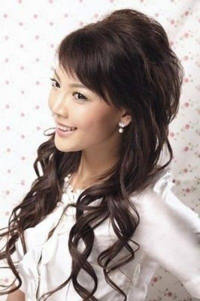 Long Formal Hairstyle With Bangs For Asian Women Long Hair Styles Long Hair Girl Asian Long Hair