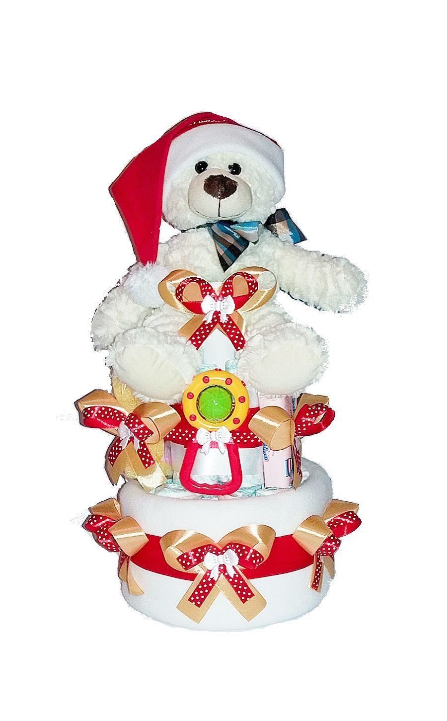 Tort Prezent Z Pampersow Czapka Mikolaja 8 Gratis 7071429257 Oficjalne Archiwum Allegro Handmade Snow Globes Decor