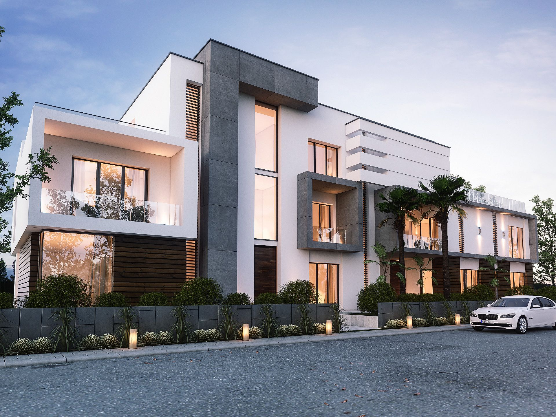 Twin Private Home Oman House Plans House Design Modern