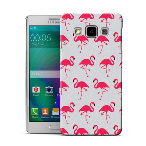 DYEFOR-GREY-SWIRL-RED-FLAMINGO-HARD-BACK-PHONE-CASE-COVER-FOR-VARIOUS-DEVICES