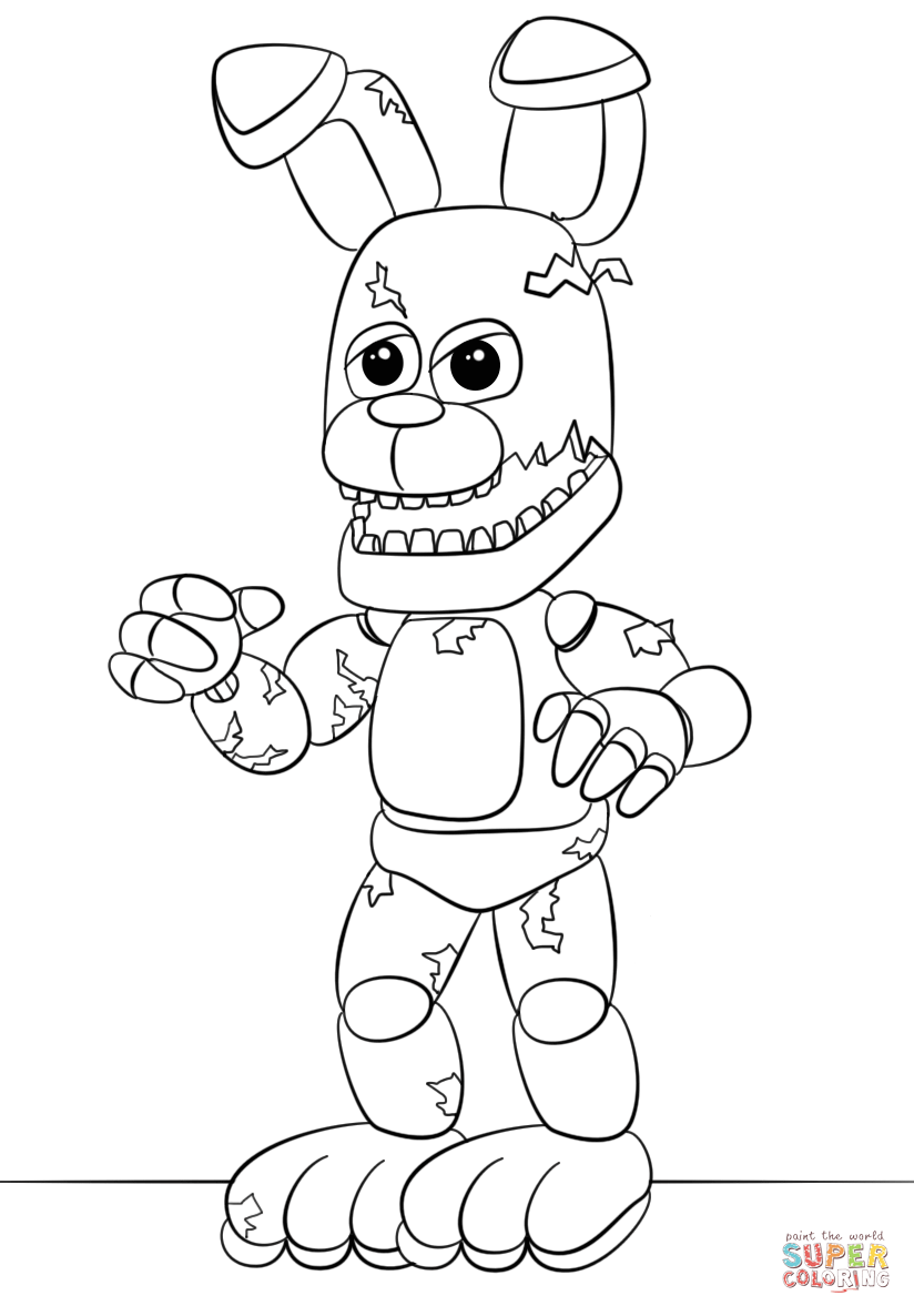 - Pin By Erin On Coloring Pages (With Images) Fnaf Coloring Pages