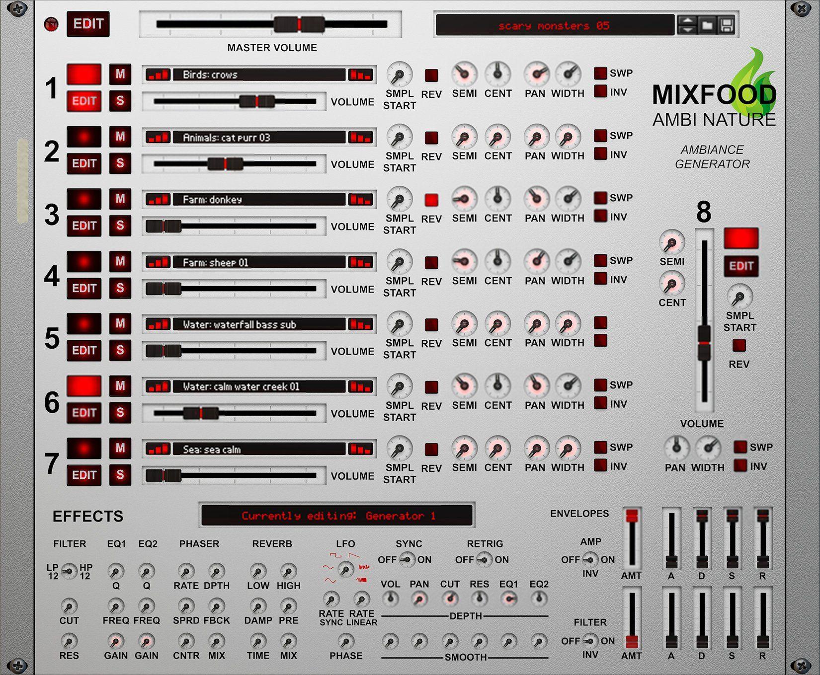 Mixfood Ambi Nature Ambiancecreator Ambiance Generator