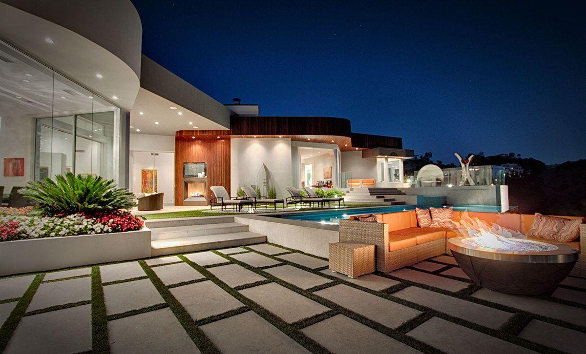 Design de jardin avec piscine | Avec terrasse, Design moderne et ...