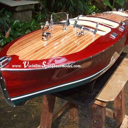 wooden speed boat model
