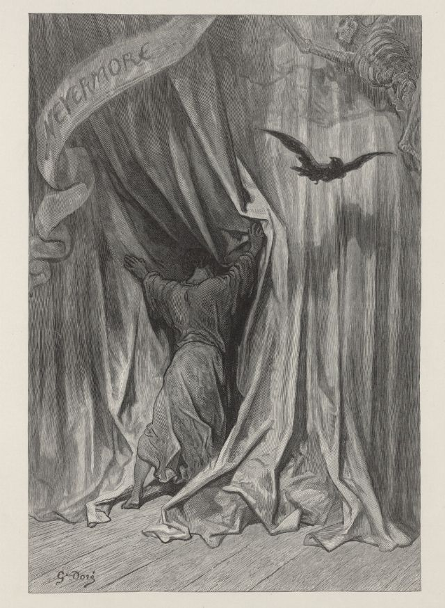 1832 illustration 5 GUSTAVE DORE Edgar Allan Poe Poster The Raven